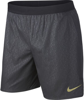 Nike m nk dstnce 7in short br emb hombre Negro