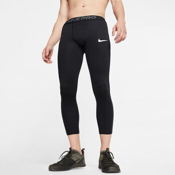 Nike Pro mallas 3/ hombre Negro