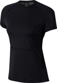 Nike Camiseta Manga Corta Pro Short-Sleeve mujer Negro