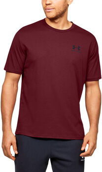 Under Armour Camiseta de manga cortaSportstyle Left Chest para hombre Rojo