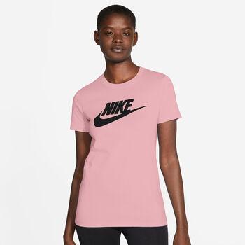 Nike Camiseta Manga Corta Essential Icon Futura mujer Rosa