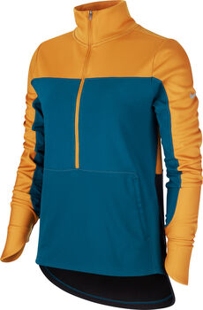Nike Camiseta m/lNK REPEL TOP MIDLAYER mujer Verde