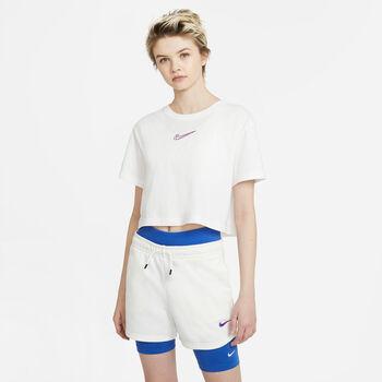 Nike Camiseta Manga Corta Crop Print mujer