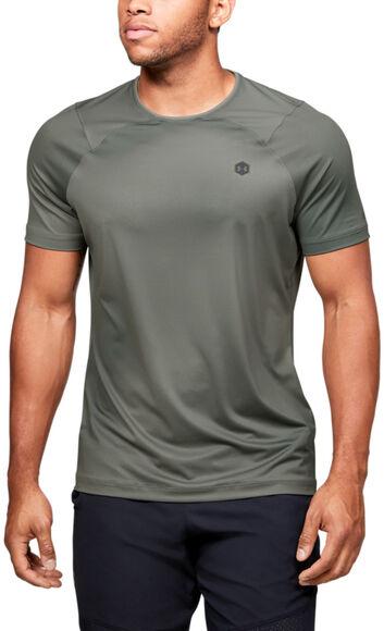 Camiseta de manga corta con estampado UA RUSH™ HeatGear® Fitted para hombre
