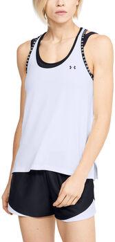 Under Armour Camiseta de tirantes UA Knockout para mujer Blanco