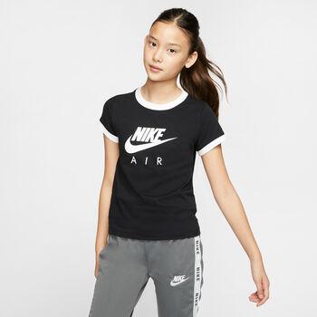 Nike Camiseta m/c G NSW TEE AIR LOGO RINGER niña Negro
