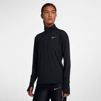 Nike Camiseta m/lNK ELMNT TOP HZ mujer Negro