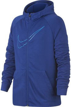 Nike b nk dry hoodie fz emb leg niño Azul