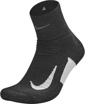 Nike Elite Cushion Quarter Running Sock Negro