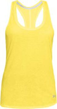 Under Armour Camiseta de tirantes de running Threadborne™ Streaker mujer Amarillo