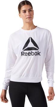 Reebok WOR Mesh Crew Neck Mujer Blanco