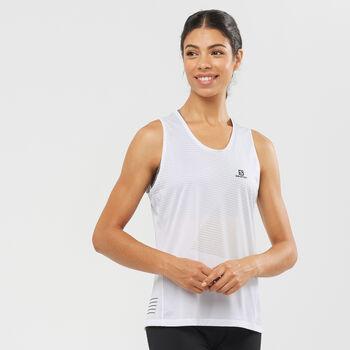 Salomon Camiseta sin mangas Sense White mujer