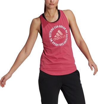 adidas Camiseta Sin Mangas Power Slogan Aeroready mujer
