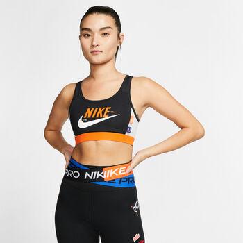 Nike Swoosh Icon Clash mujer Negro