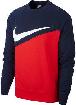 Nike Camiseta m/lNSW SWOOSH CREW FT hombre Rojo