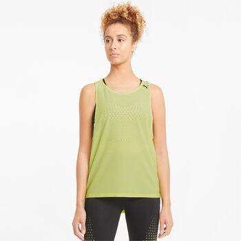 Puma Camiseta de tirantes mesh mujer Amarillo