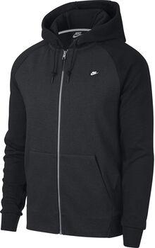 Nike Sudadera M NSW OPTIC HOODIE FZ hombre Negro