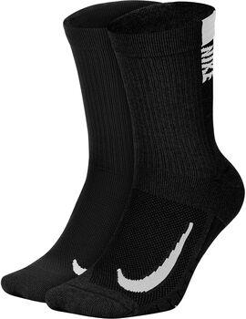 Nike Calcetines Largos Running Multiplier (2 Pares) hombre Negro