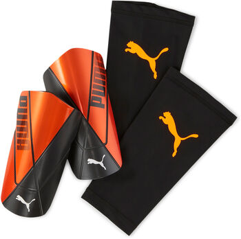 Puma Espinilleras Team sleeve hombre Naranja