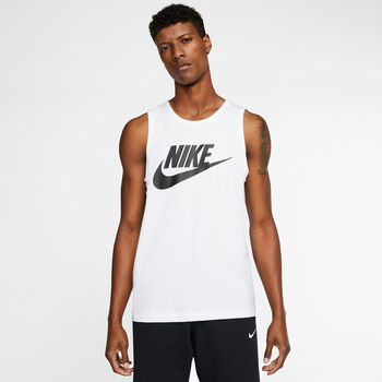Nike Camiseta Sin Mangas Logo hombre Blanco