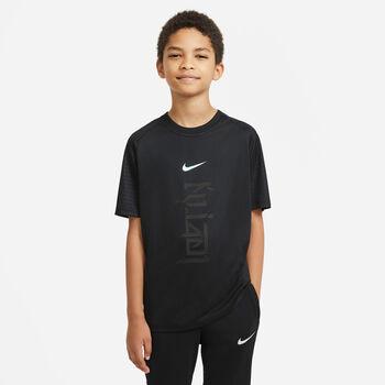 Camiseta de fútbol Nike Dri-FIT Kylian Mbappé niño Negro