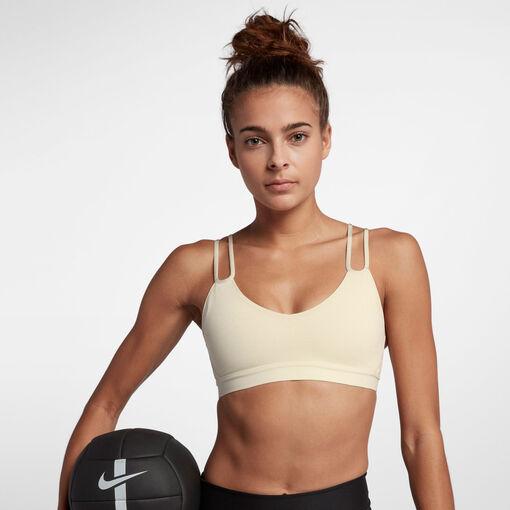 Nike - Classic Sparkle Bra - Mujer - Sujetadores deportivos - Marrón - L