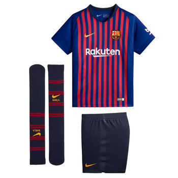 Nike Conjunto Fútbol Club Barcelona 2018 - 2019  Azul