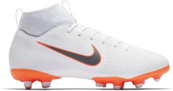 Nike Botas fútbol  MercurialSuperfly 6 Academy GS MG  niño Blanco