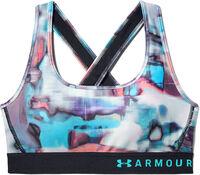 Sujetador deportivo de impacto medio Armour® Crossback Print para mujer