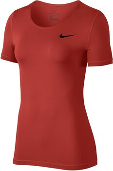 Nike Pro Top SS All Over Mesh Mujer Naranja