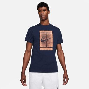 Nike Camiseta Manga Corta Court hombre Azul