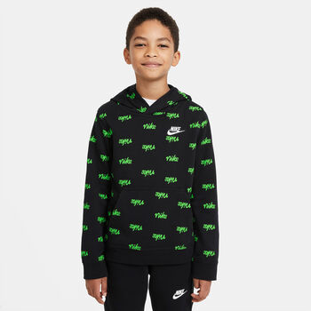 Sudadera con capucha Nike Sportswear Script niño Negro