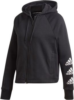 adidas Chaqueta con capucha Stacked Logo Full-Zip Fleece mujer