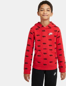 Sudadera con capucha Nike Sportswear Script niño Rojo