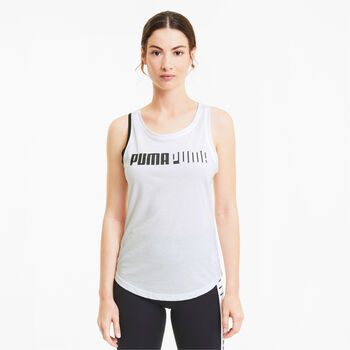 Puma Camiseta de manga corta training Logo Cross mujer