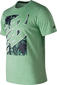 New Balance Camiseta NB Heathertech hombre