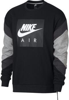 Nike Sportswear Air Crew Flc hombre Negro