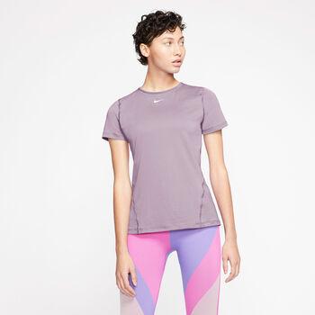 Nike Camiseta Manga Corta Pro All Over Mesh mujer Púrpura