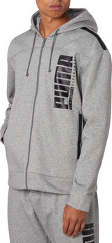 Puma Sudadera Hooded Sweat Jacket hombre Gris