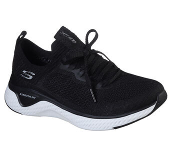 Skechers Sneakers Stretch Flat Knit Laced Slip- mujer