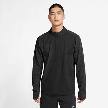 Nike Camiseta Manga Larga Pinnacle Run Division hombre Negro