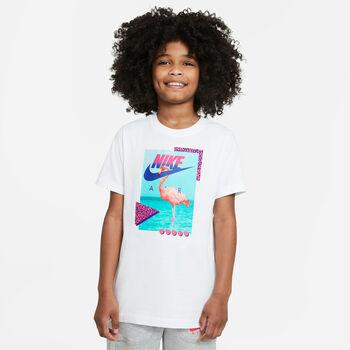 Nike Camiseta Manga Corta Flamingos Blanco