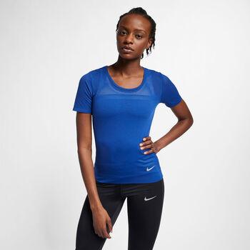 Nike Camiseta Running de manga corta mujer Azul