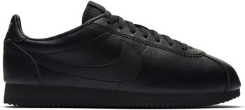 Nike Classic Cortez Leather Hombre Negro