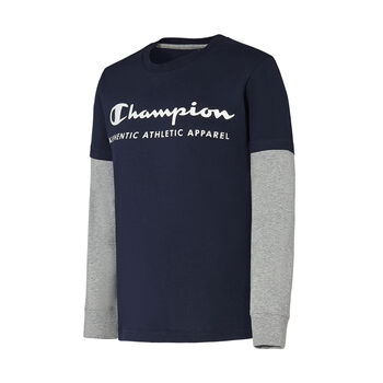 Champion Camiseta m/l Long Sleeve Crewneck T-Shirt niño