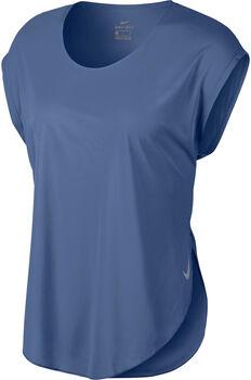 Nike Camiseta m/c W NK CITY SLEEK TOP SS mujer Azul