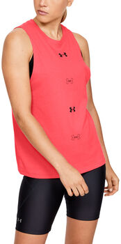 Under Armour Camiseta de tirantes UA Graphic Muscle M6 mujer Rojo