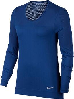 Nike W NK INFINITE TOP LS mujer Azul