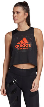 adidas Camiseta Fast Graphic Crop mujer