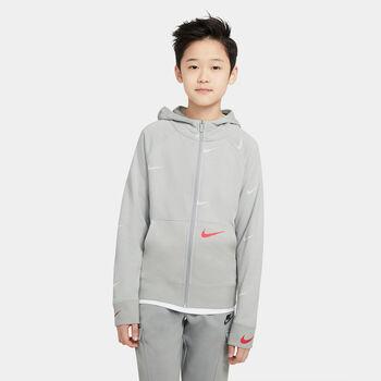 Sudadera Nike Sportswear Swoosh Fleece niño Gris